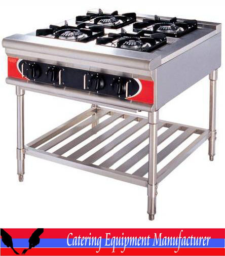 High Quality Commercial 4 Burners Gas Burner (GZL 4W)