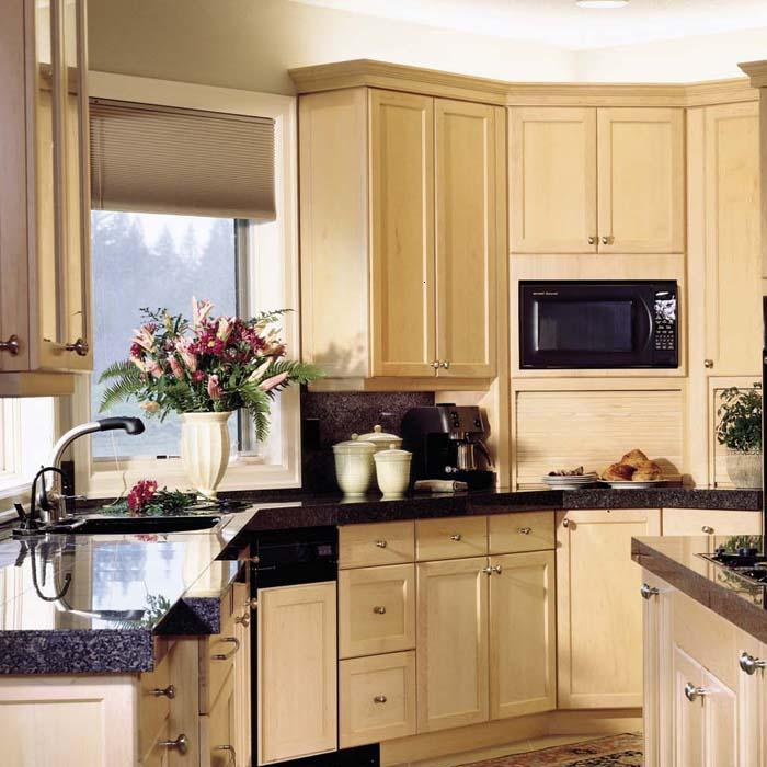 China Natural Maple Kitchen Cabinet Shaker Square China Kitchen Cupboard Kitchen Cabinet
