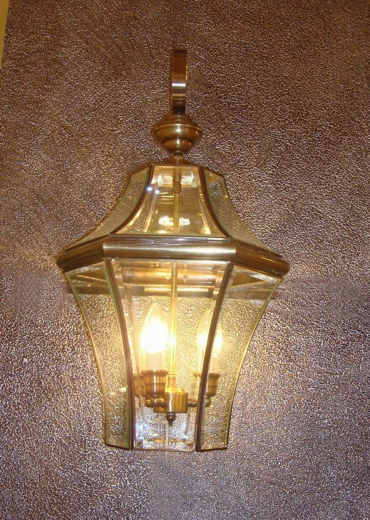 Pw-19354 Copper Wall Lamp with Glass Decorative pictures & photos