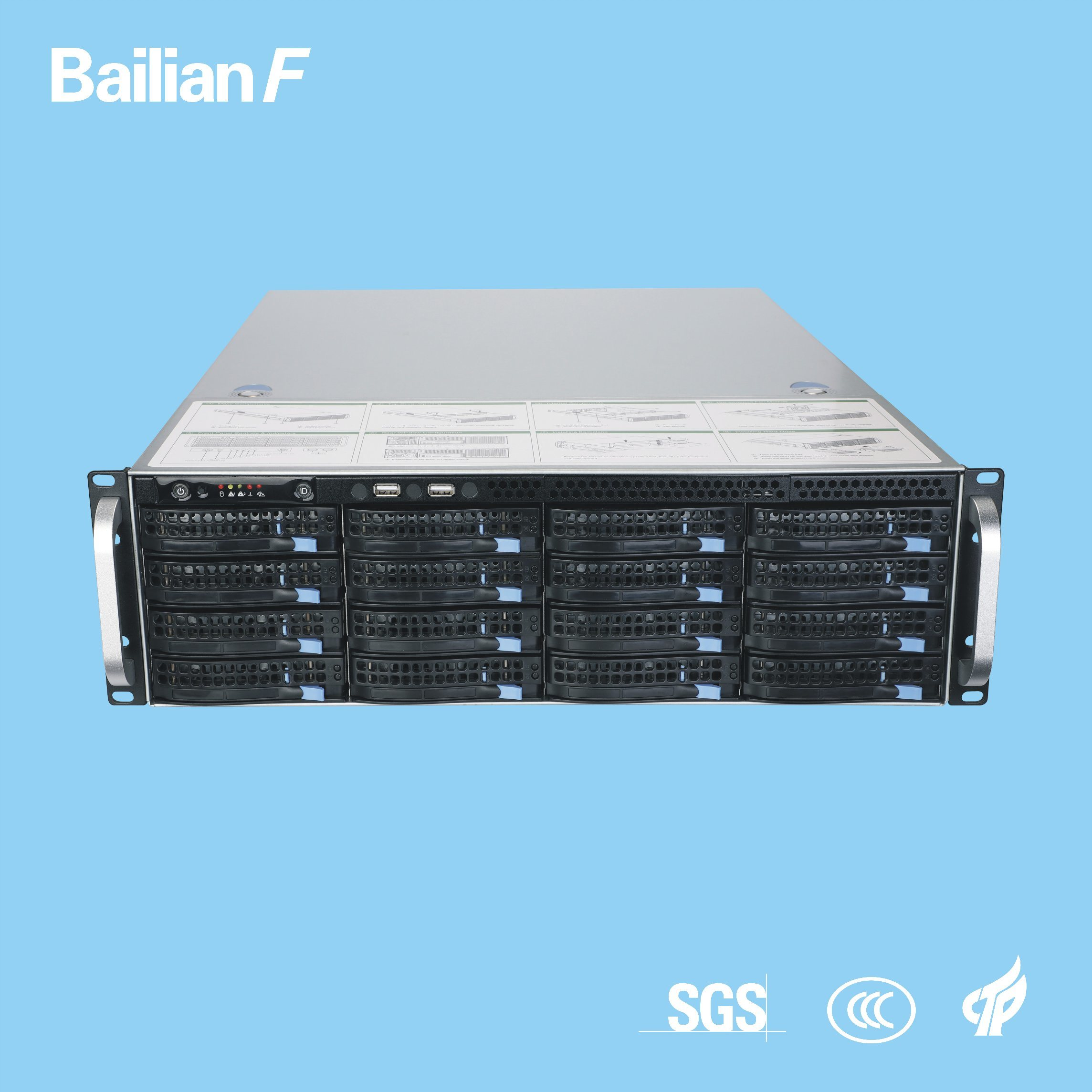 [Hot Item] Movie Server 3u 16-Disk Hot Swap Chassis 600W High Performance  Server