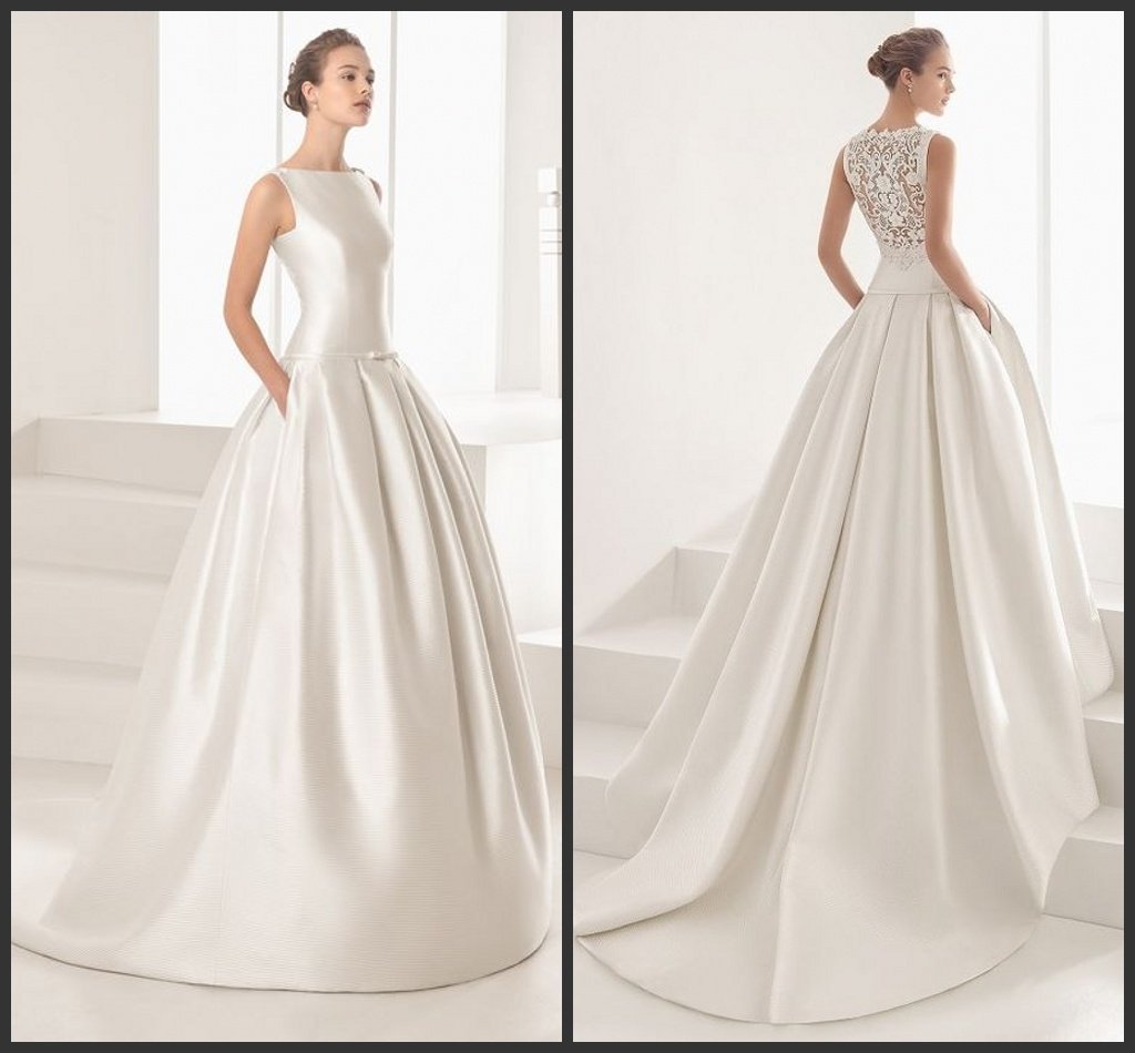 China Wedding Gown: China Lace Back Bridal Wedding Dress Vestidos Satin
