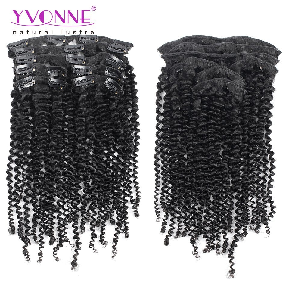 China Brazilian Hair Kinky Curl Clip In Hair Extension China Clip