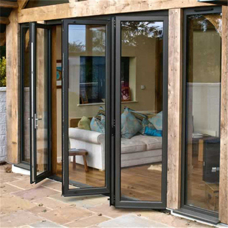 China Double Glass Interior Soundproof Glass Interior Folding Doors