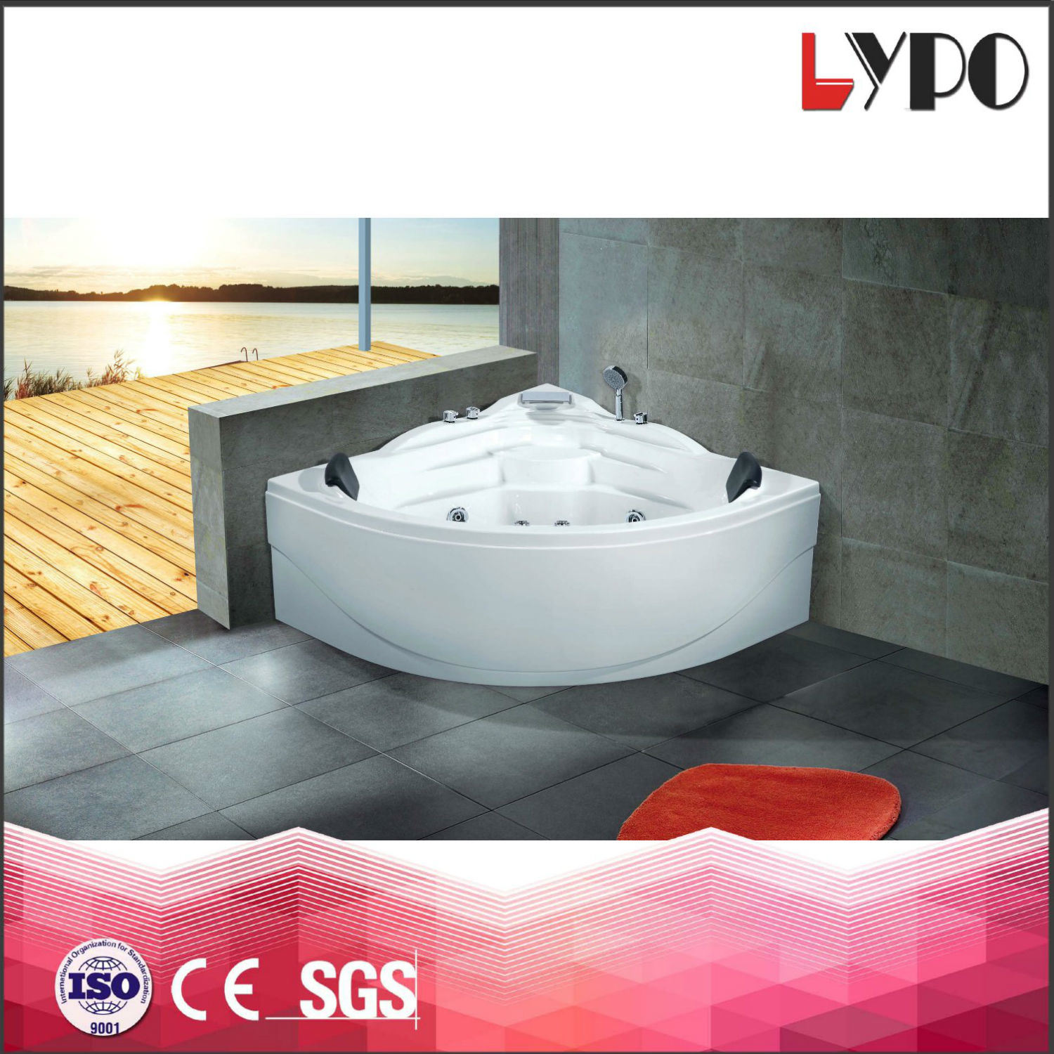 China K-8802 Chirstmas Big Sale Pearl Oval Round Whirlpool Massage ...