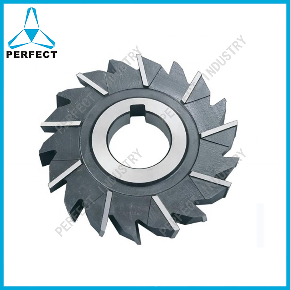 High Speed Steel 5 Diameter 5//8 Width of Face 1 Hole Size F/&D Tool Company 11182-A7520 Staggered Tooth Side Milling Cutter