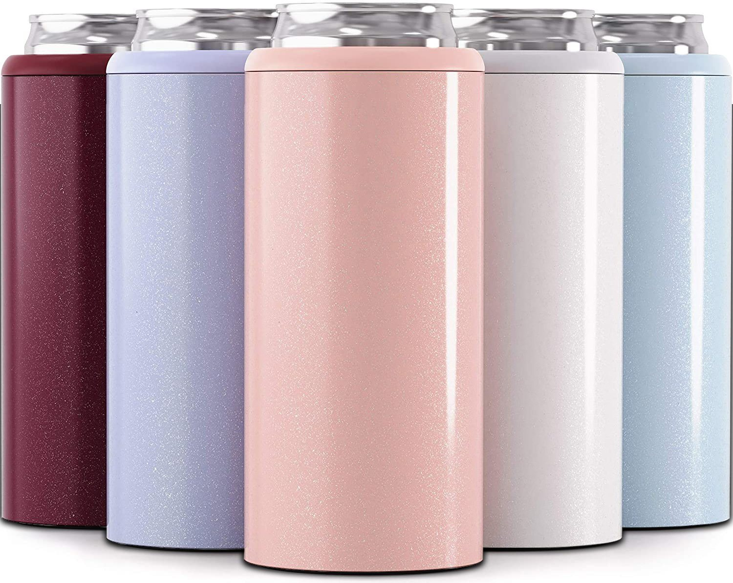 China New 12 Oz Skinny Can Cooler Double Wall Stainless Steel Can Holder For Party China Skinny Can And Skinny Can Cooler Price