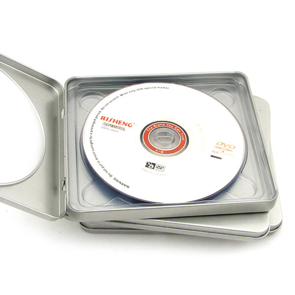 Square CD, DVD Tin Box with Window