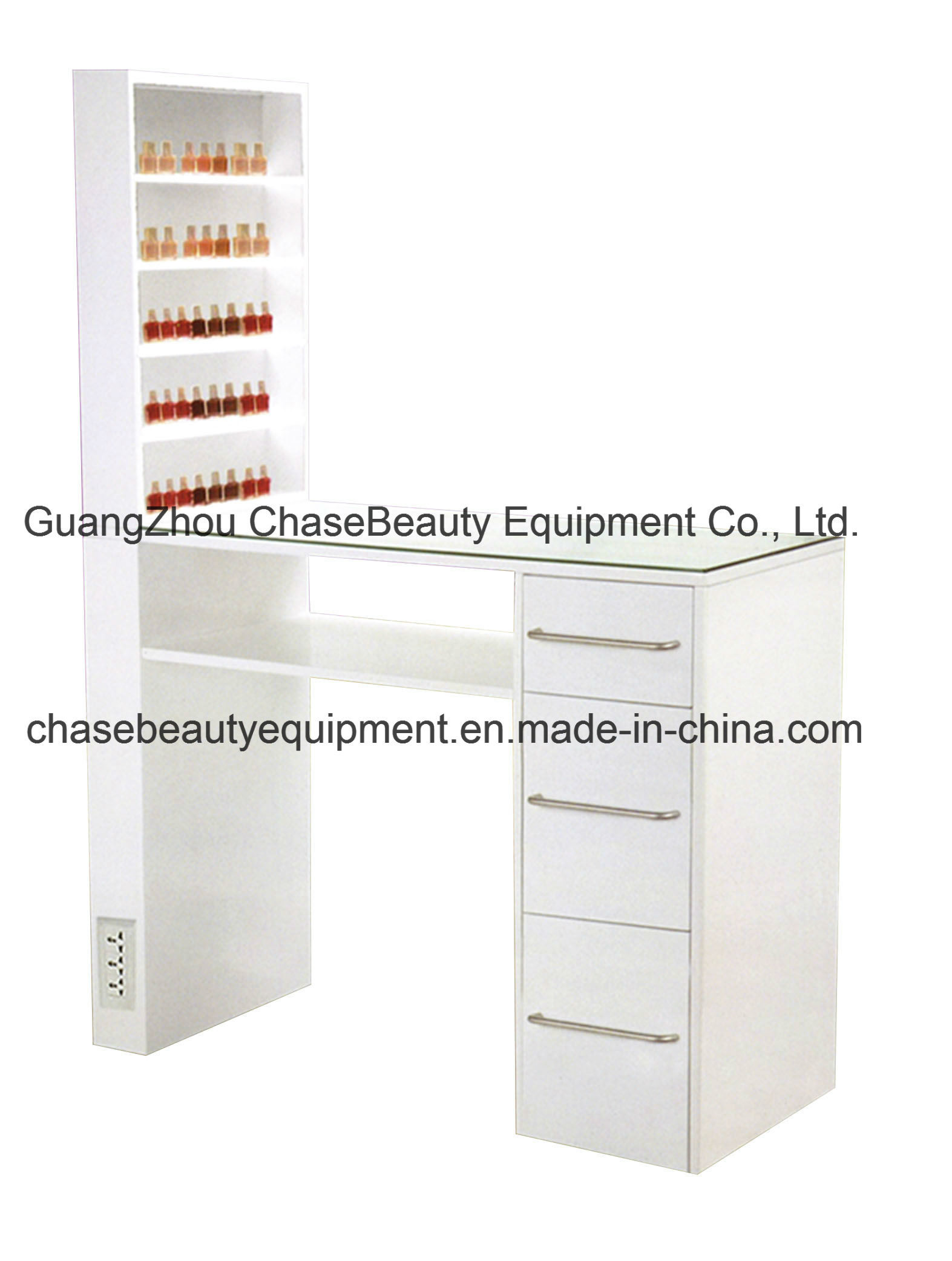 furniture table beauty frame image spa black station products drawers with steel giantex product manicure salon storage tables nail