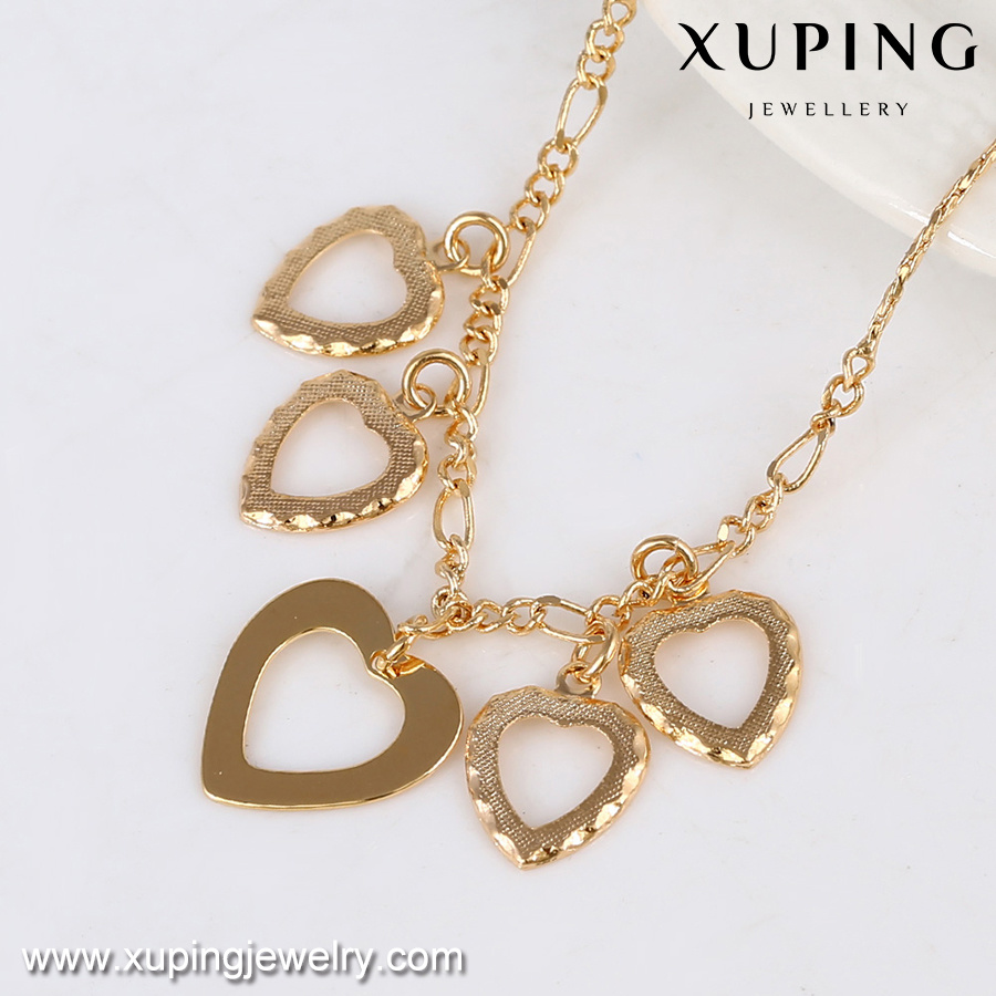 China 73811 Fashion Jewelry Gold Alloy Heart Design Simple Anklet ...