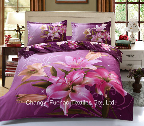 Polyester Fabric 3D Printed 4 Pieces Bedsheet/Bedding Sets/Microfiber Duvet pictures & photos