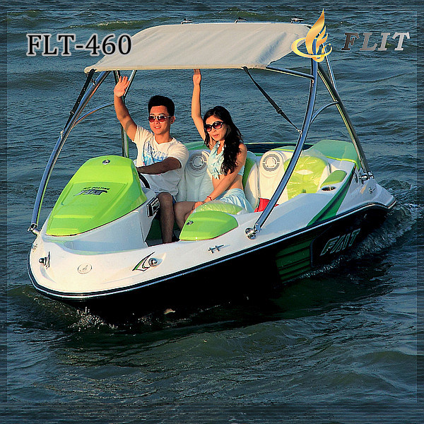 China 4 Passengers Speed Boat With Bimini Top
