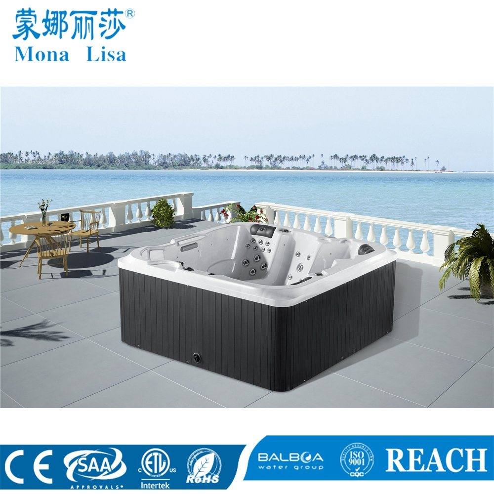 China M-3354 2.2meters Outdoor Square Acrylic Jacuzzi Whirlpools ...