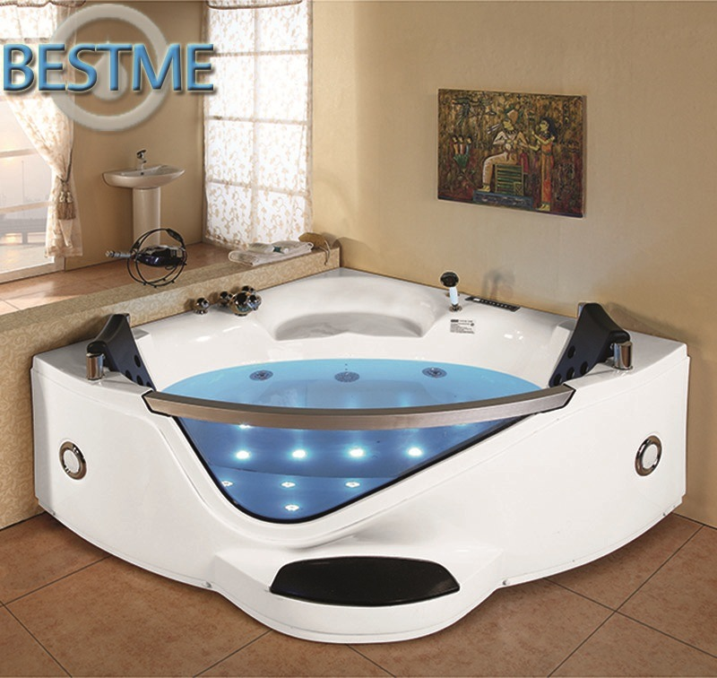 China Freestanding Whirlpool Jacuzzi Acrylic Massage Corner Bath Tub ...