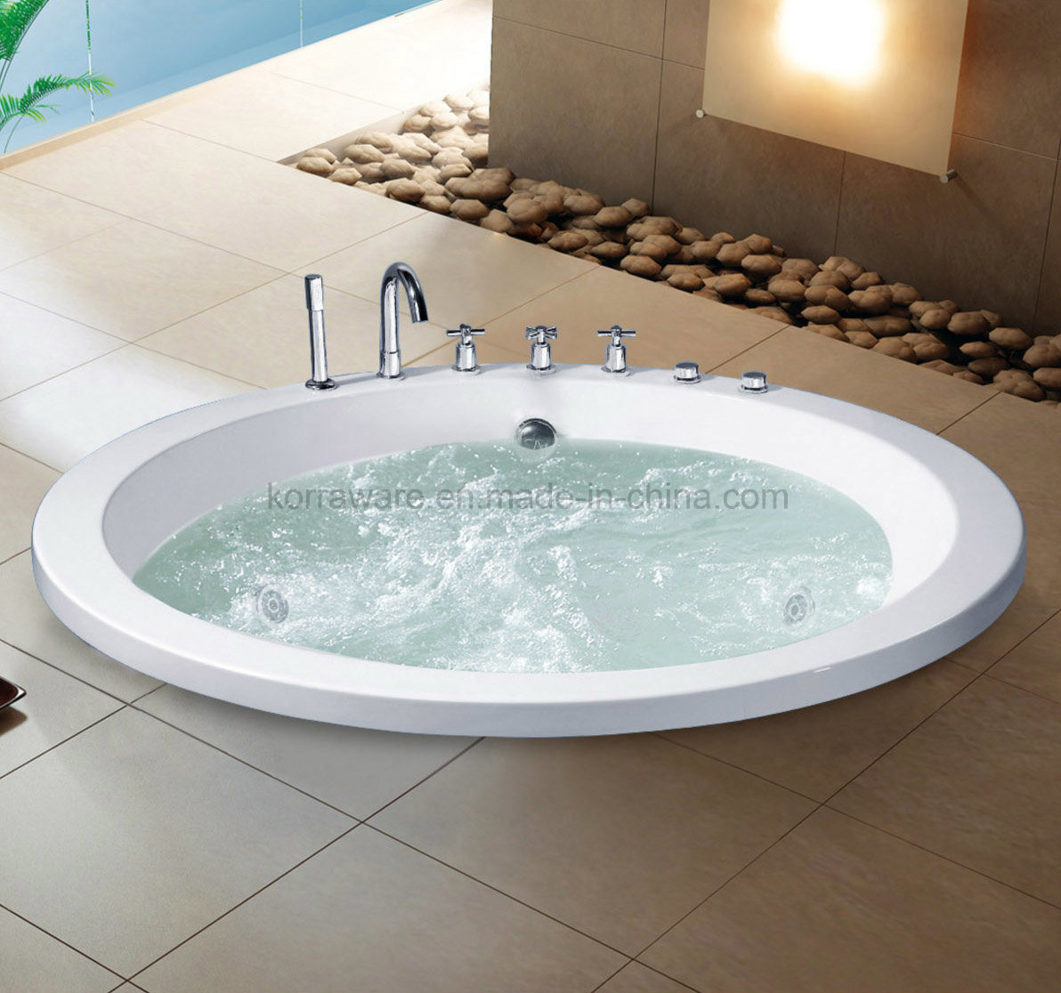 (K1215) Freestanding Acrylic Bathtubs / Massage Whirlpool Bathtubs