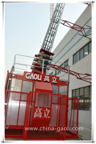 Sc100/100 Construction Hoist with Rack and Mast Section