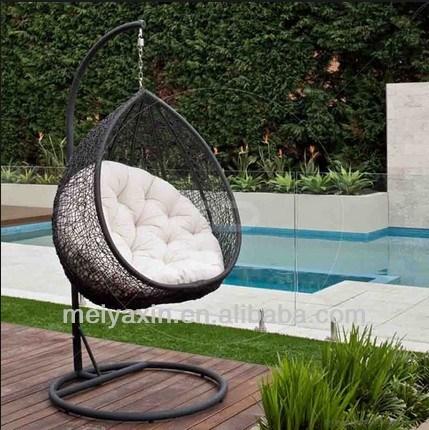 China Pe Wicker Outdoor Birds Nest Hanging Chair Rattan Swinging Hammocks China Garden Chair Hanging Chair