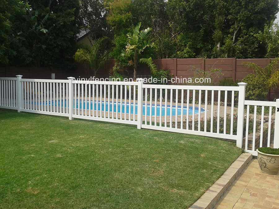 China Pvc Plastic White Pool Fences Pvc Valla De Jardin China