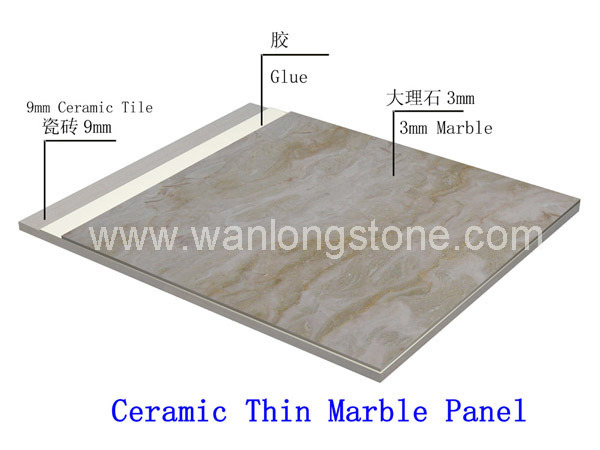 Ceramic Backed Marble And Granite Tile