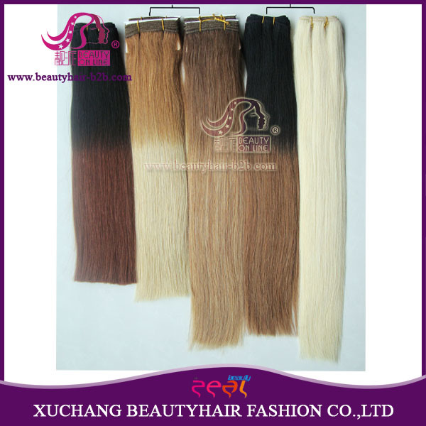 China Best Quality Ombre Hair Extension Weft Thickest Remy Hair