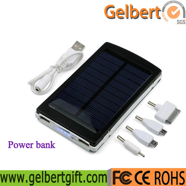 [Hot Item] Hot Selling 10000mAh Portable RoHS Solar Cell Phone Charger  Power Bank
