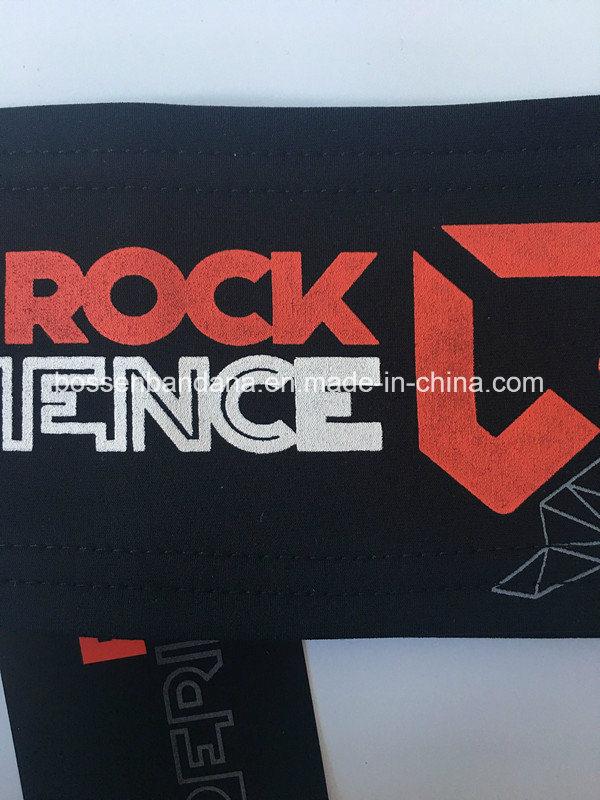 OEM Customized Logo Print Cotton Stretch Elastic Black Sports Running  Headwear Headbands Manufacturer 9029bfc30906