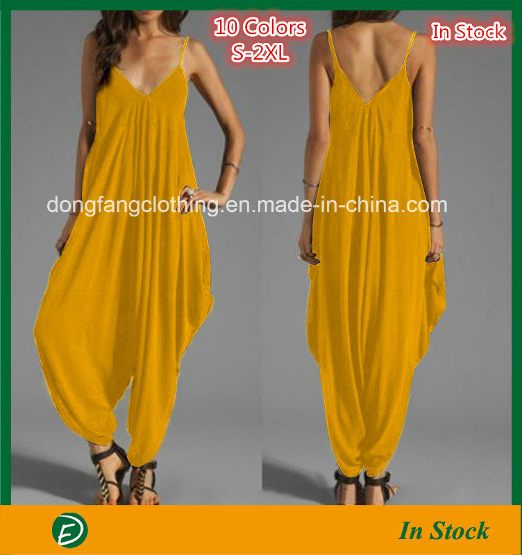 China Fashion Low-Cut V-Neck Sexy Sling Loose Jumpsuit with Cheap Price - China  Jumpsuit 7b81d148d
