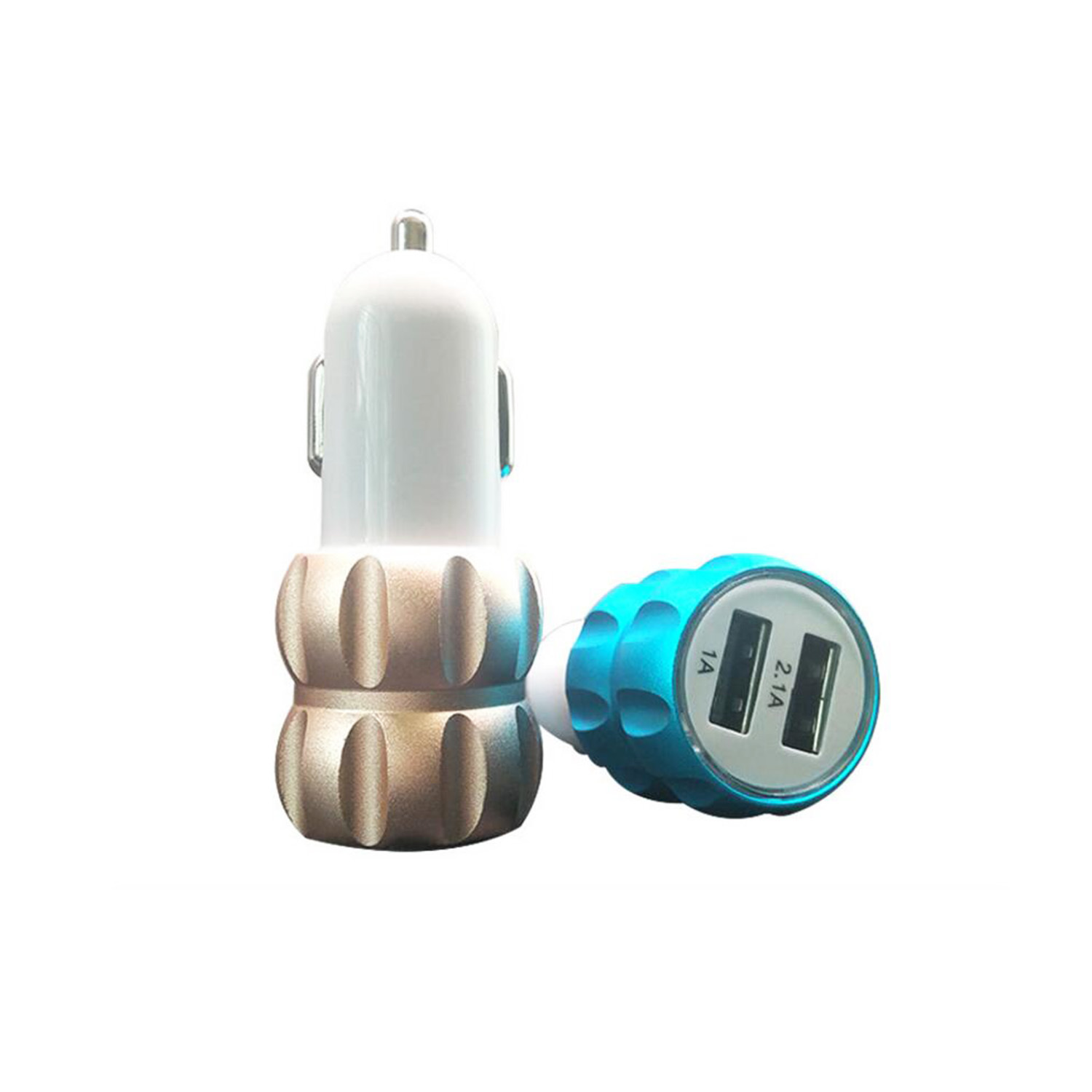Universal Dual USB Ports Colorful Metal Portable Mobile Phone Car Charger pictures & photos