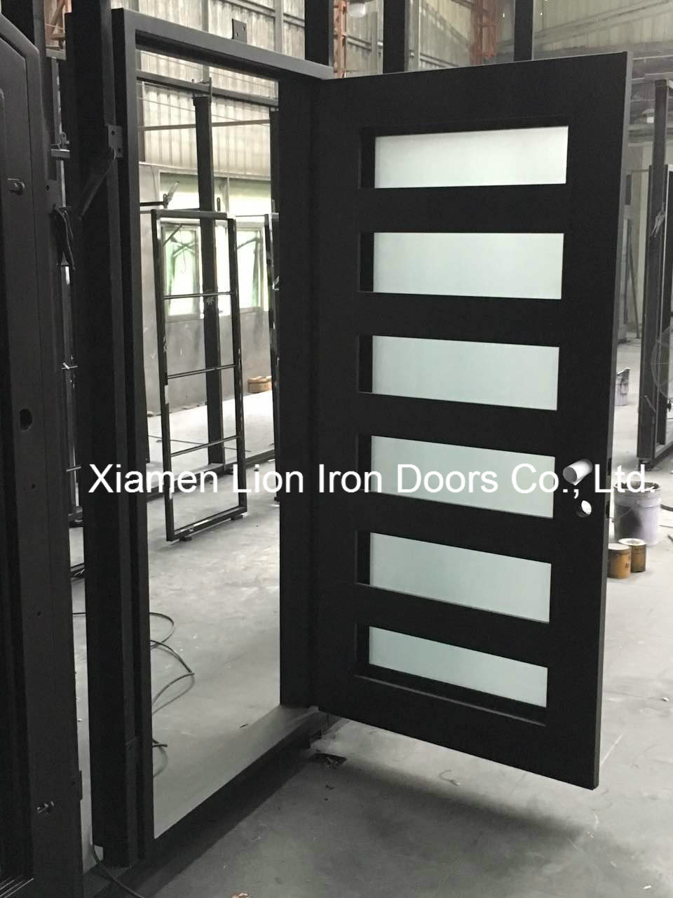 China Beautiful American House Safety Modern Iron Window Grill Design China Steel Fire Door Metal Side Door