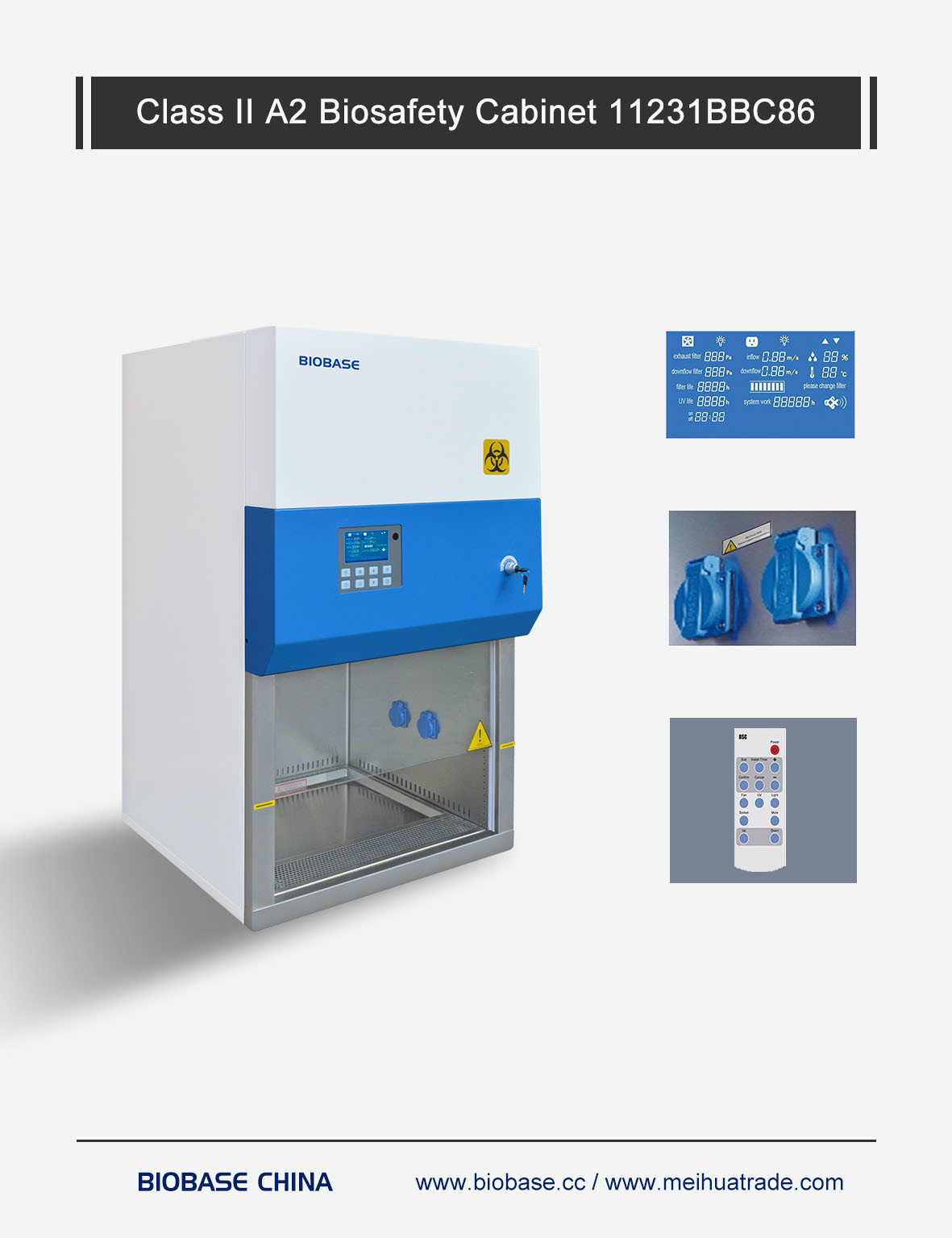 China Biobase Lab Hospital Class Ii Biological Safety Cabinet With