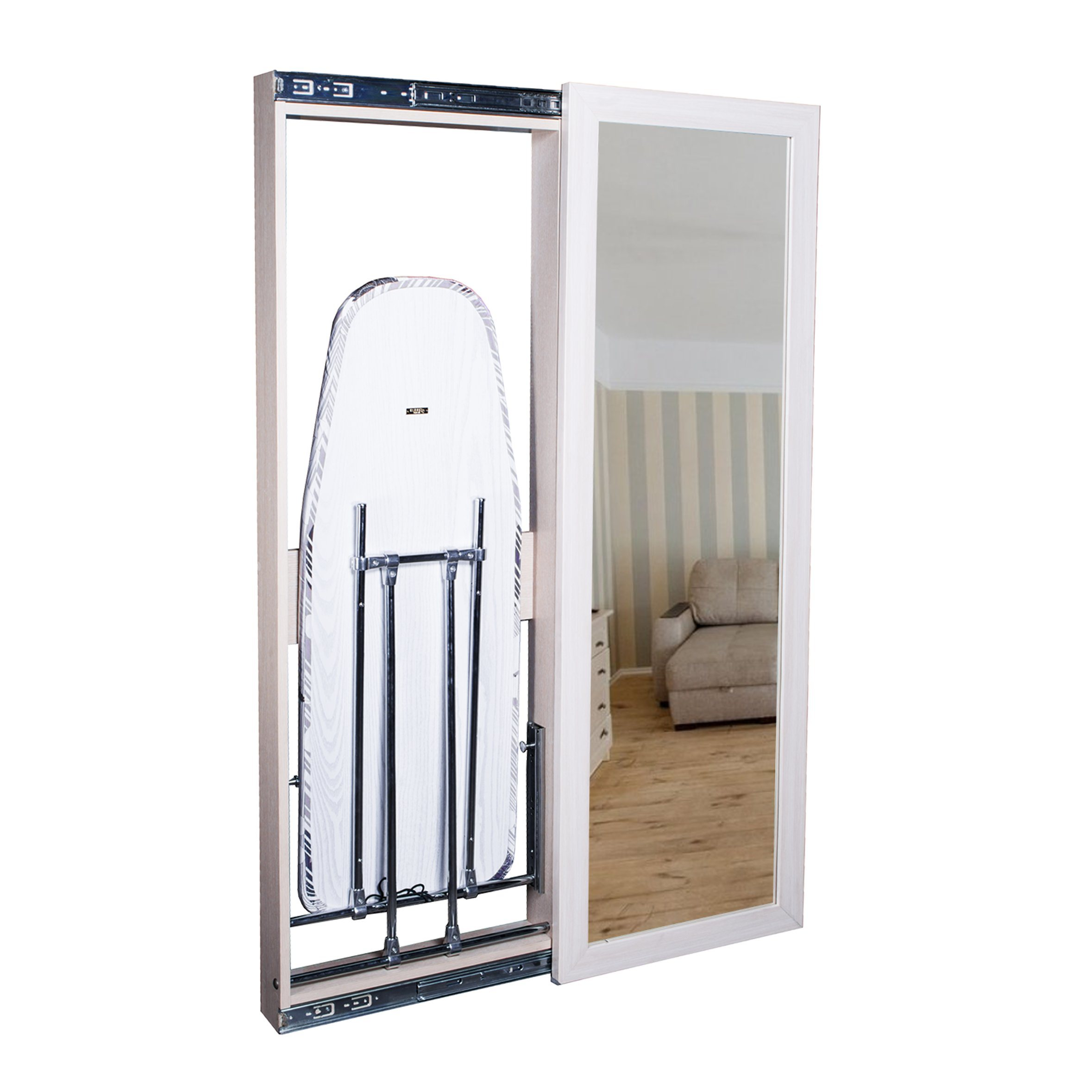 China Hot Sell Home Furniture Beautiful Wooden Desktop Ironing Board Folding Ironing Board Cabinet China Wall Mounted Ironing Board With Mirror And Dressing Mirror Price