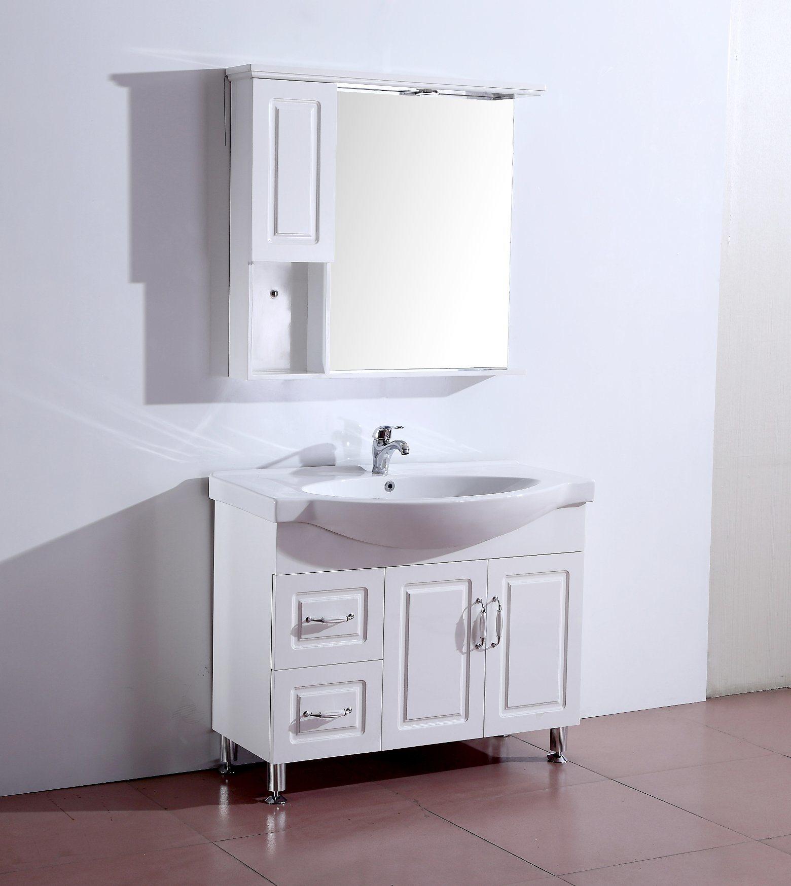 China Modern Single Sink Landing Waterproof Bathroom Storage Cabinets Bathroom Wc Shower Wash Basin Cabinet Ot1941 China Bathroom Cabinet Solid Wood