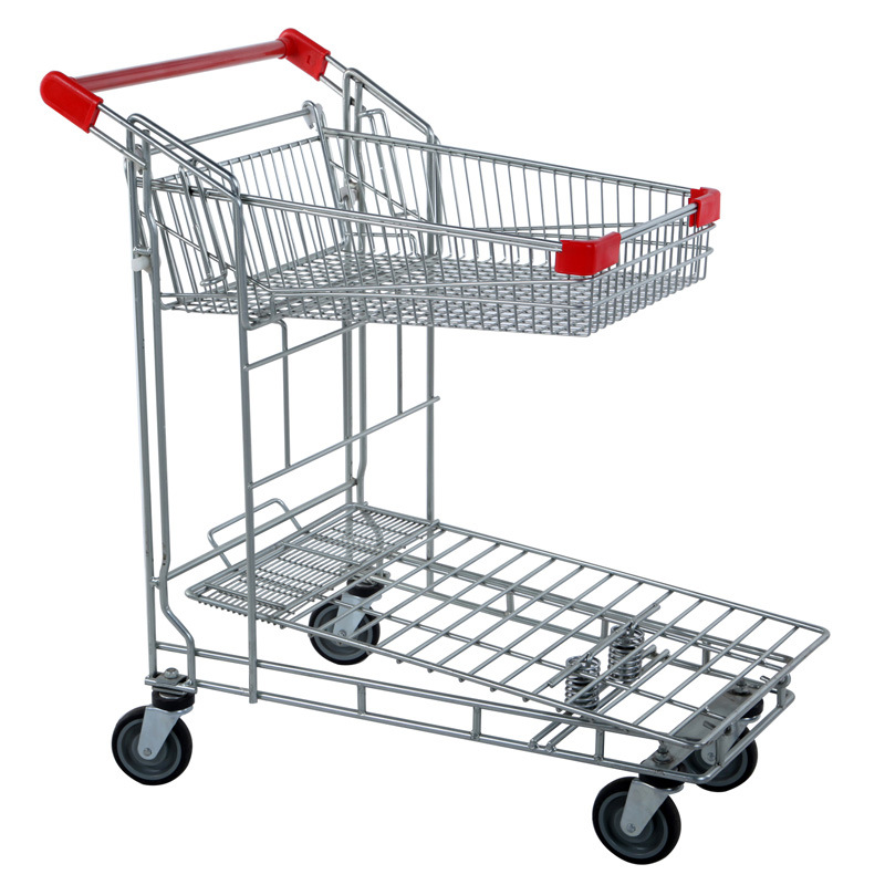 China Warehouse Supermarket Goods Transportation Flat Cart