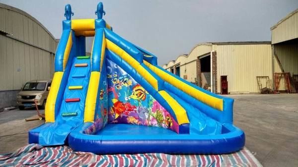 China 2016 Hot Sale Water Playground Children Large Inflatable Pool Slide  (RB7037)   China Inflatable Pool Slide, Children Inflatable Pool With Slide