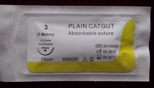 Plain Catgut Suture, Absorbable, Surgical Suture