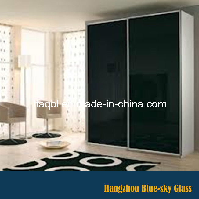 China 4mm Back Painted Tempered Glass For Living Room Cabinet Door