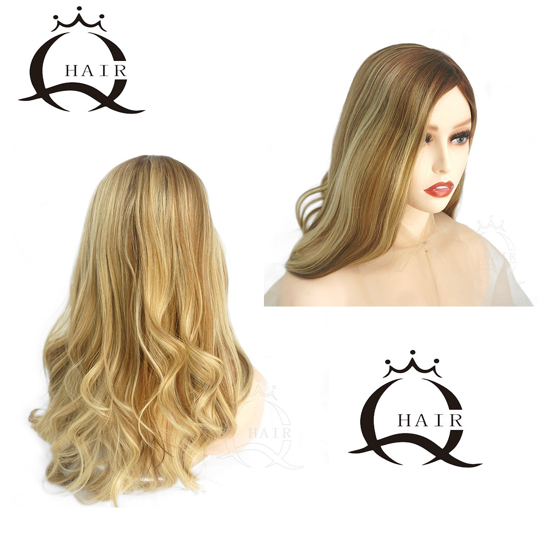 Blonde Weave With Dark Roots