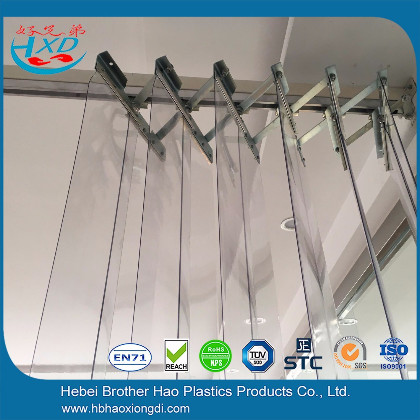 China Factory Door Sliding Curtain Hardware Strong Rail Pulley