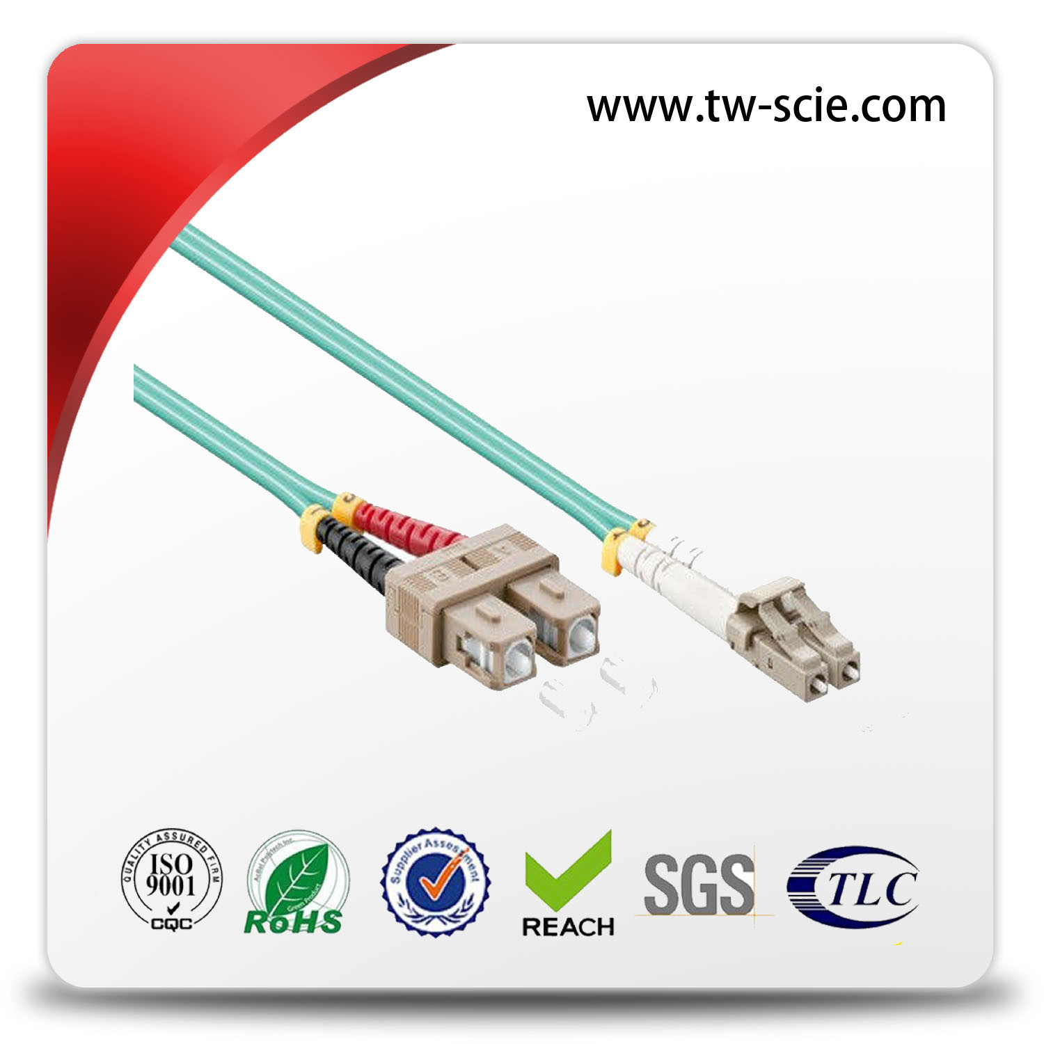Duplex LC Fiber Optic Connector with Upc APC Ceramic Fiber Ferrule