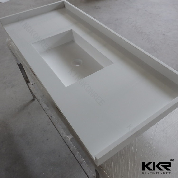 Bathroom White Solid Surface Countertop