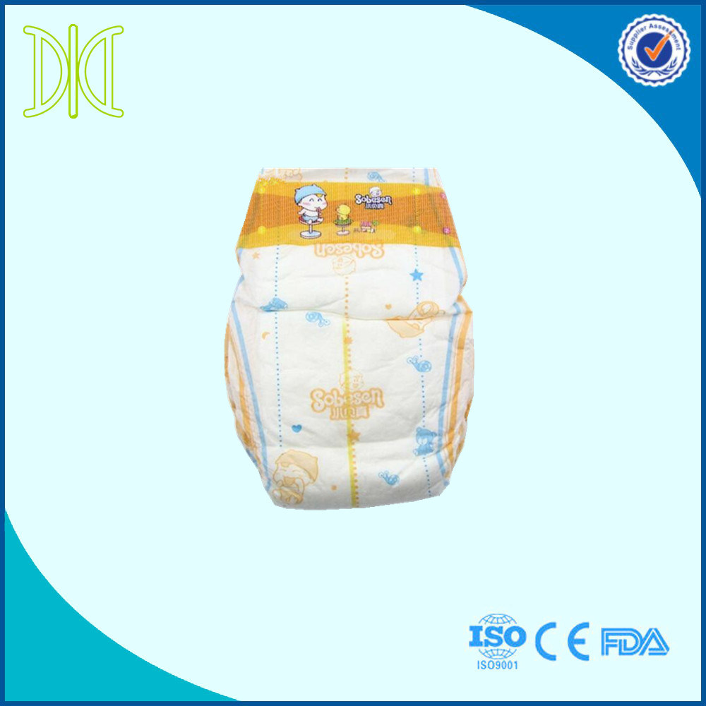 Abdl with Elastic Waist Band Disposable Baby Diaper