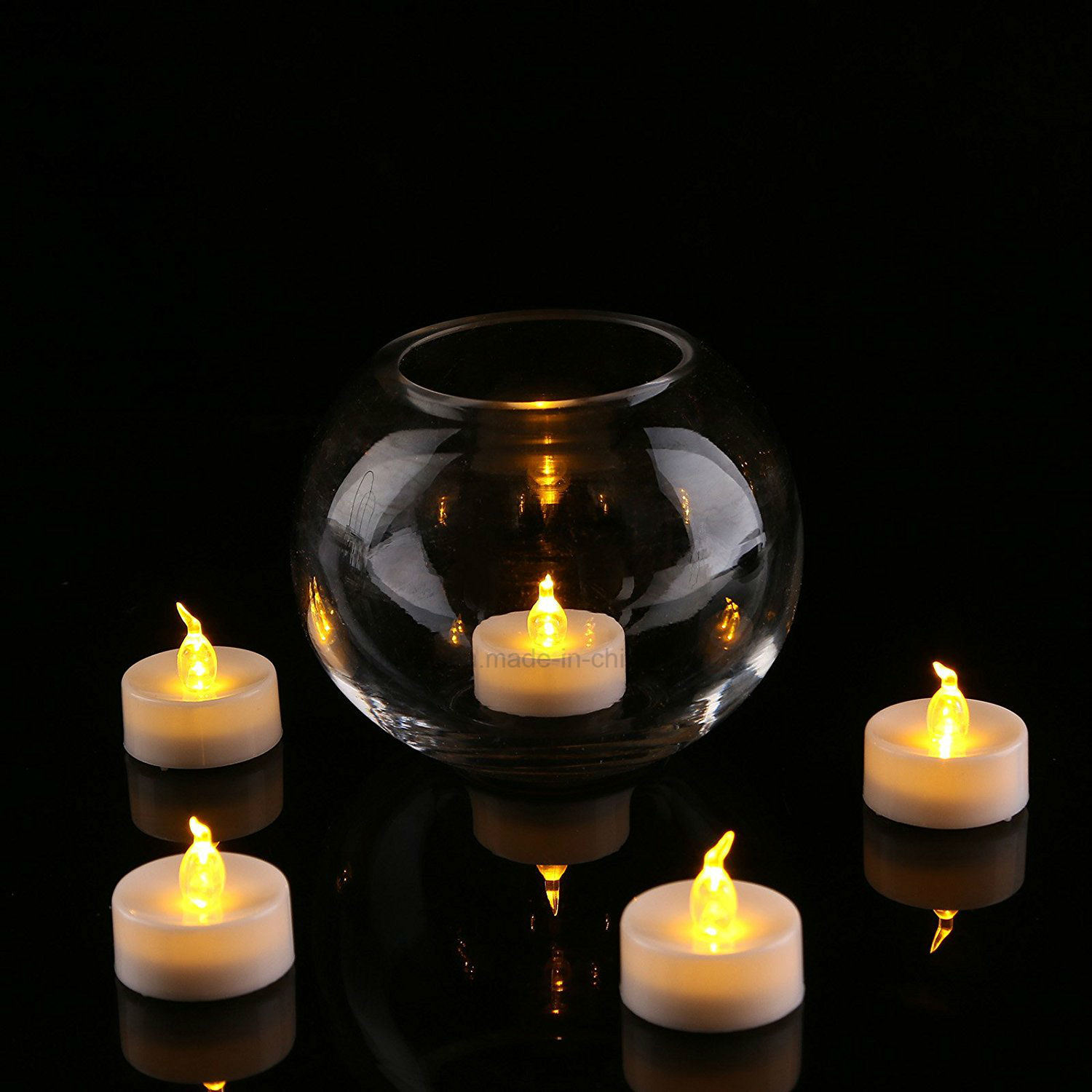 flickering lighting pin operated decorations for battery warm flameless christmas wedding loguide tea yellow led lights party candle