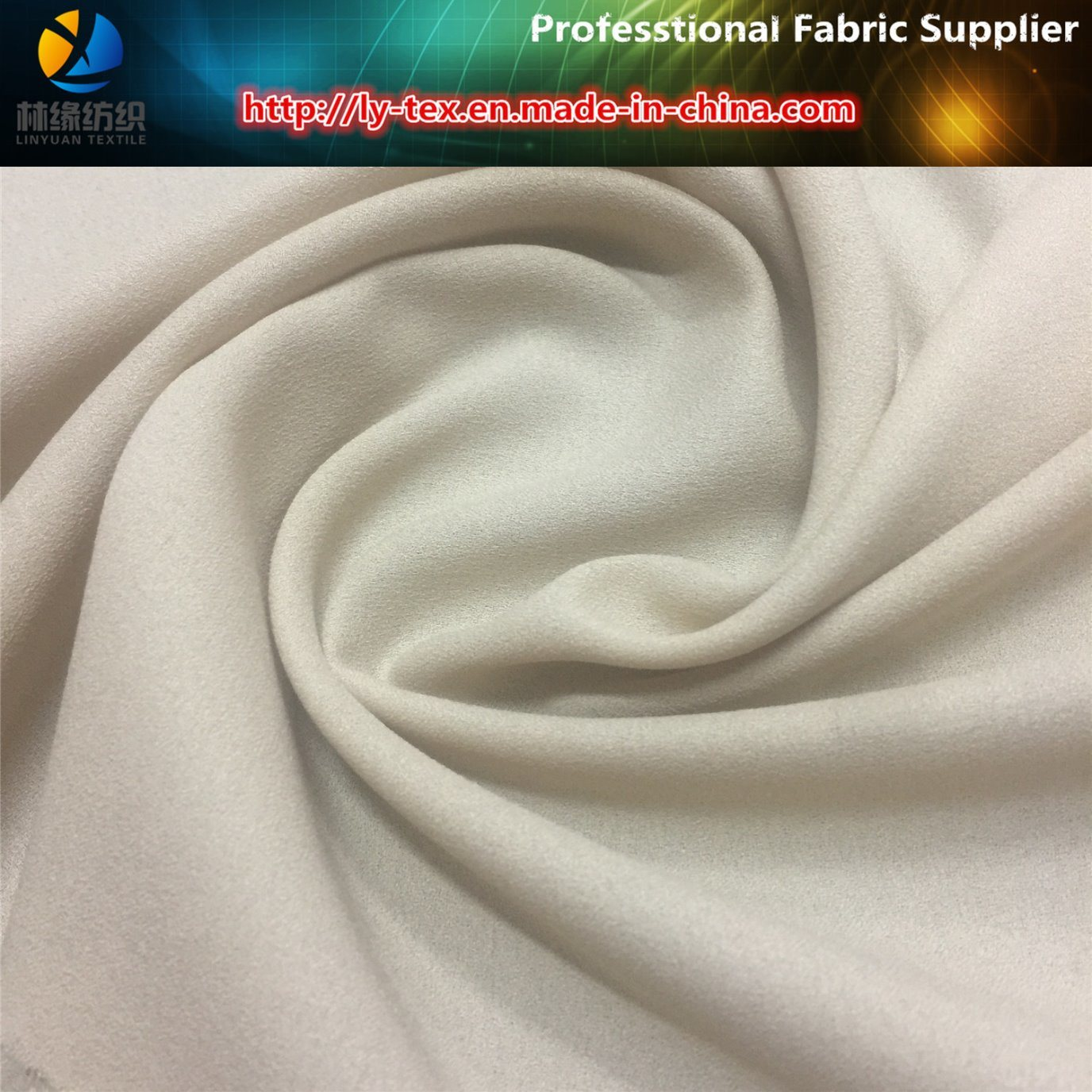 75D Polyester Chiffon Fabric, Polyester Moss Crepe Dress Fabric (R0154) pictures & photos