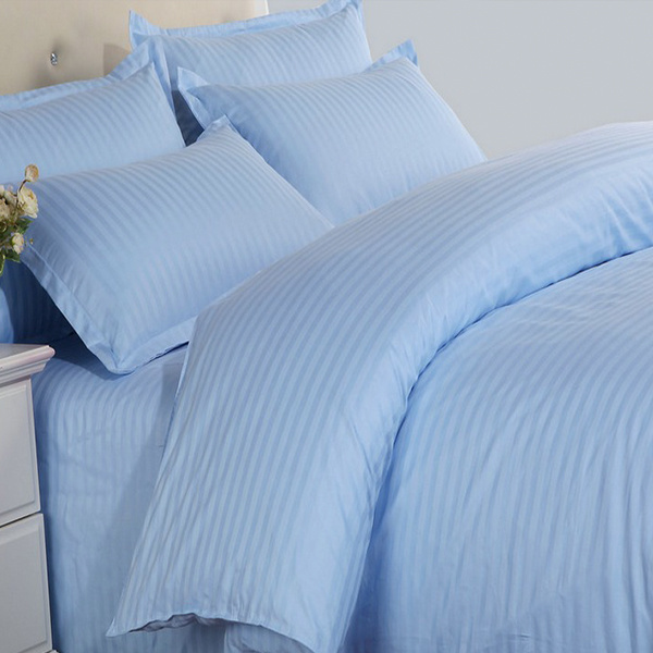 China High Quality Satin Stripe Colored Poly Cotton Bedding Set Customized Design