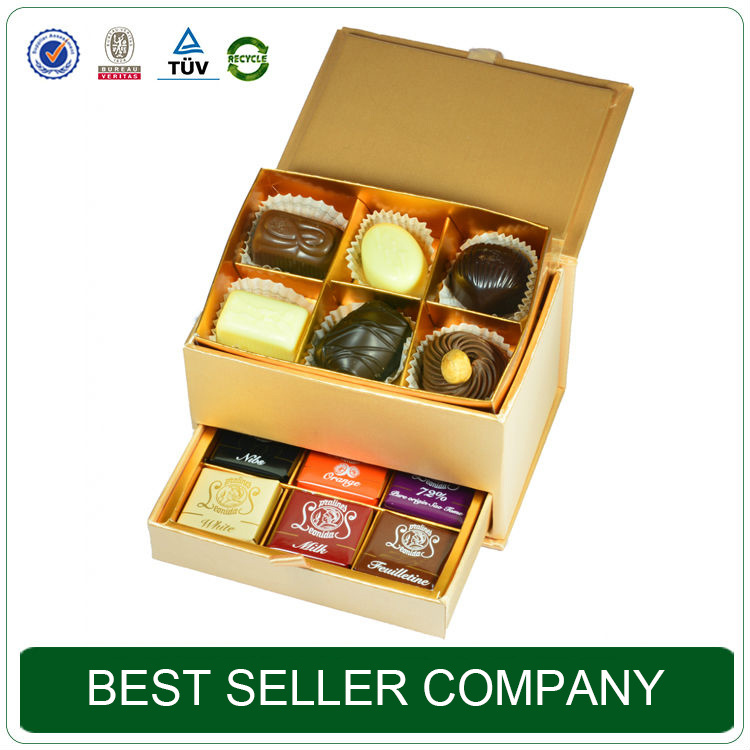 Best Seller Packaging Box Factory Glod Luxury Chocolate Gift Box
