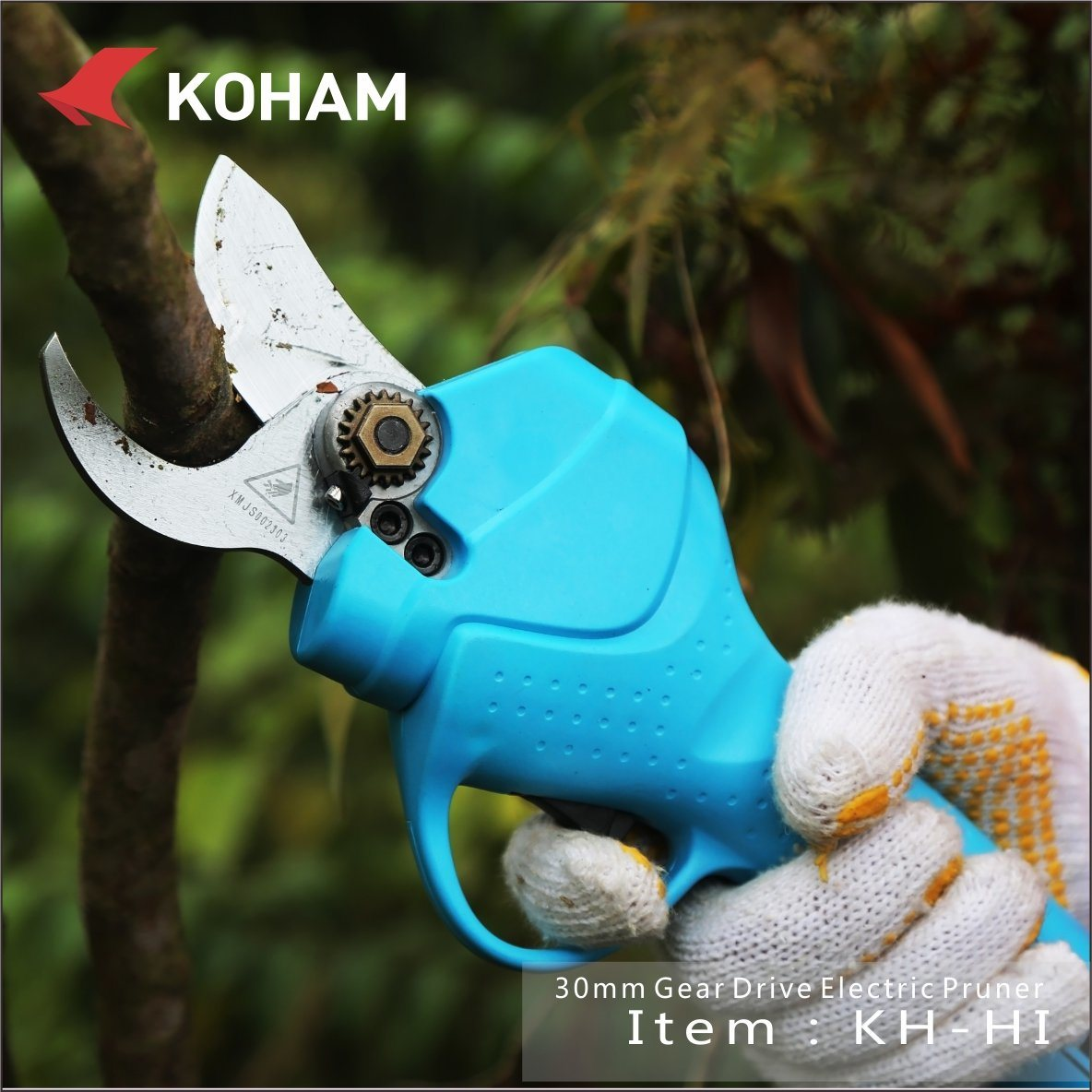Koham Tools Plum Tree Branches Cutting Battery Secateurs pictures & photos