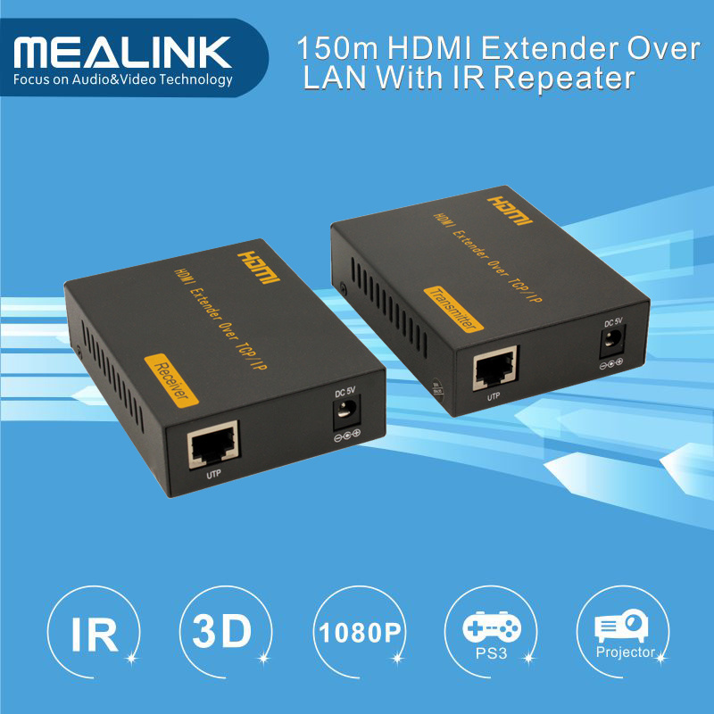 150m by Single Cat5e/6 Cable HDMI Extender