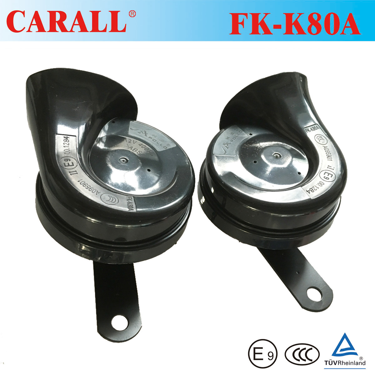 China Waterproof 12v Car Horn Motorcycle E Mark Approved Klakson Denso Relaykabelsekring Electric