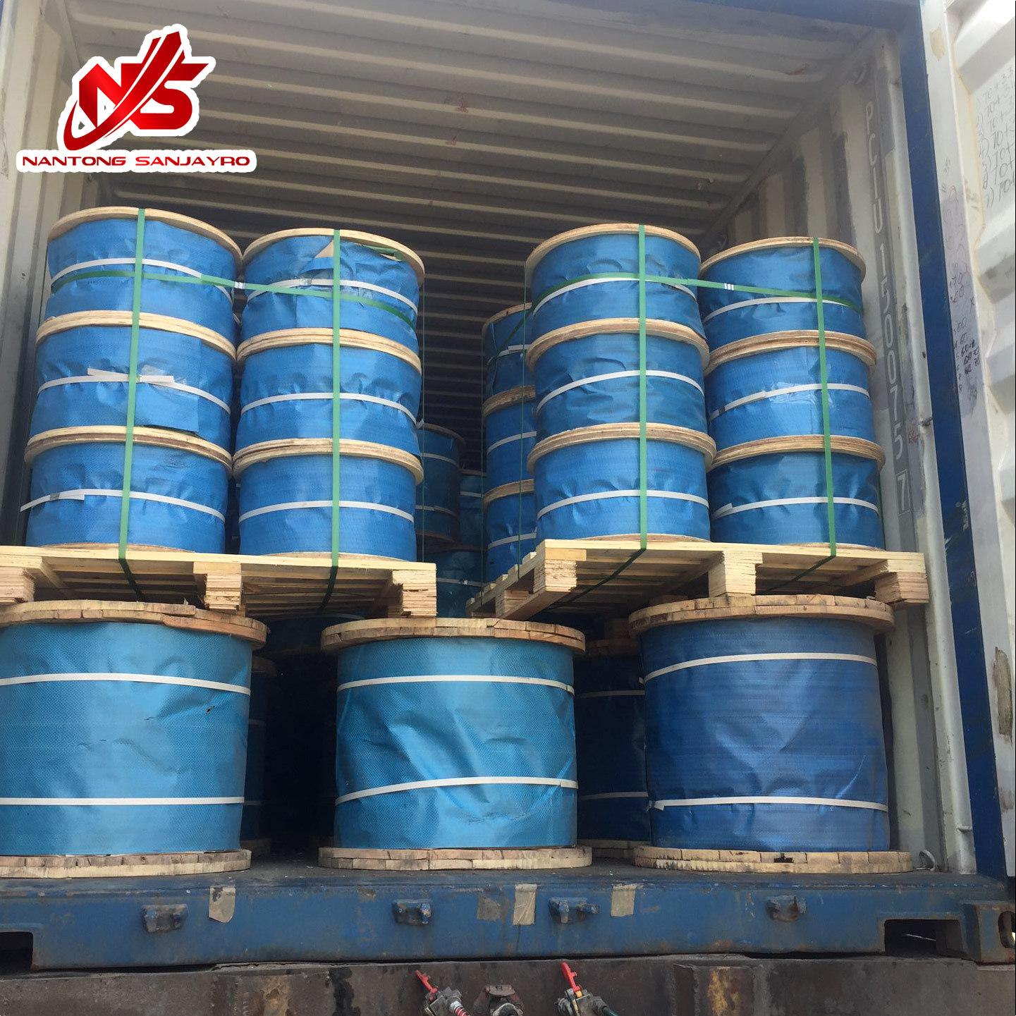 China Ungalvanized Steel Wire Rope 6 X 37+Iwrc One Blue Strand ...