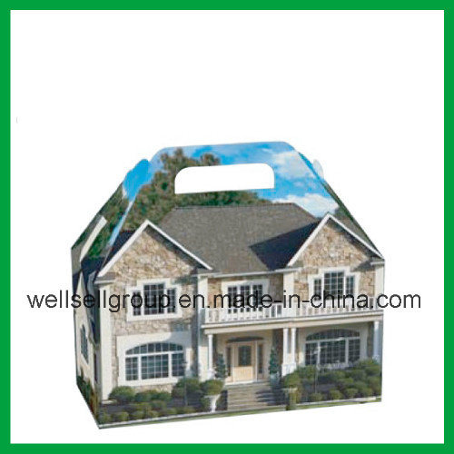 Hot Item Handheld Gift Box House Shaped Paper Box Packaging Box Candy Box For Promotional Gift
