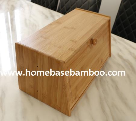 China Walmart Nice Bamboo Bread Bin Box Storage China Bread Box